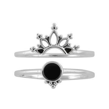 WONDERLAND ONYX RING SET