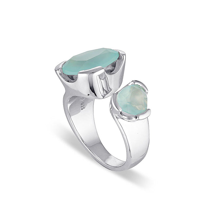 EVERYDAY GEMSTONE RING AQUAMARINE DUET