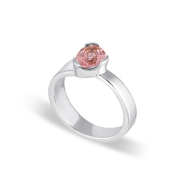 GEMPOWER STACKER RING - BLUSH QUARTZ