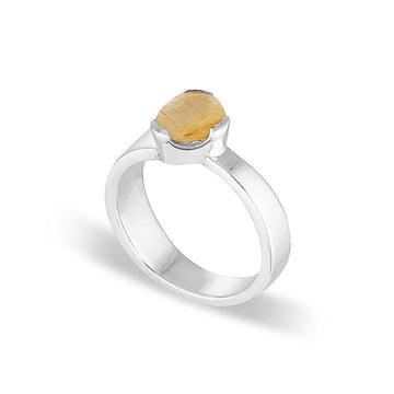GEMPOWER STACKER RING - GOLDEN RUTILATED QUARTZ