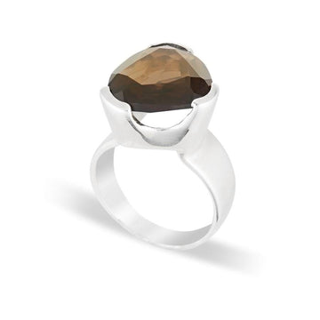 LIGHT SMOKEY QUARTZ LIMITED EDITION COCKTAIL RING