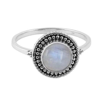 BEAD MOONSTONE RING