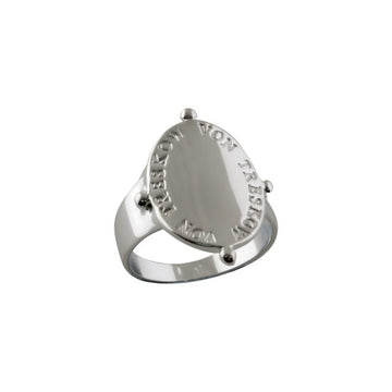VERTICAL OVAL PLATE RING