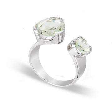 DUET MINT CHAMPAGNE COCKTAIL RING