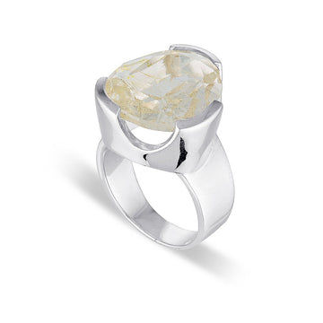 RUTILATED QUARTZ COCKTAIL RING