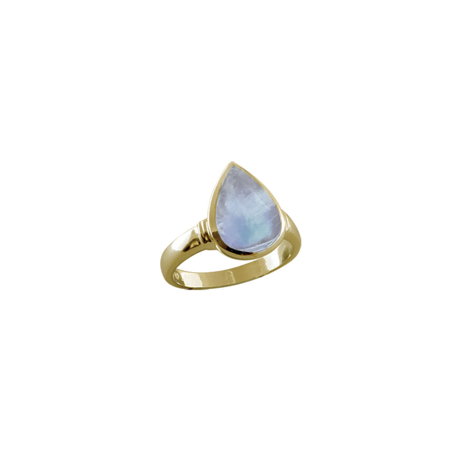 PEAR SHAPED MOONSTONE RING