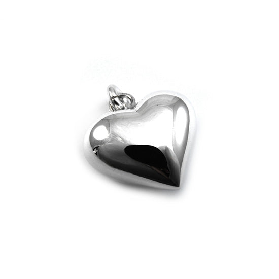 SILVERGIRL 20MM PUFF HEART PENDANT