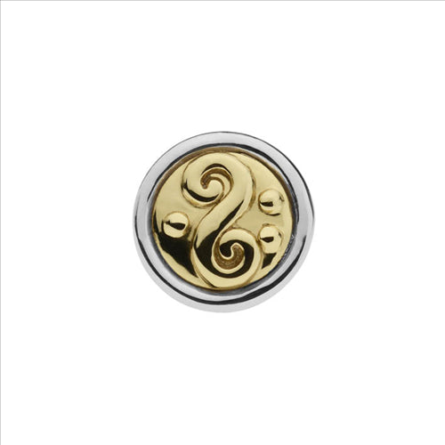 NAJO SWIRL DISC BUTTON RAPTURE CHARM