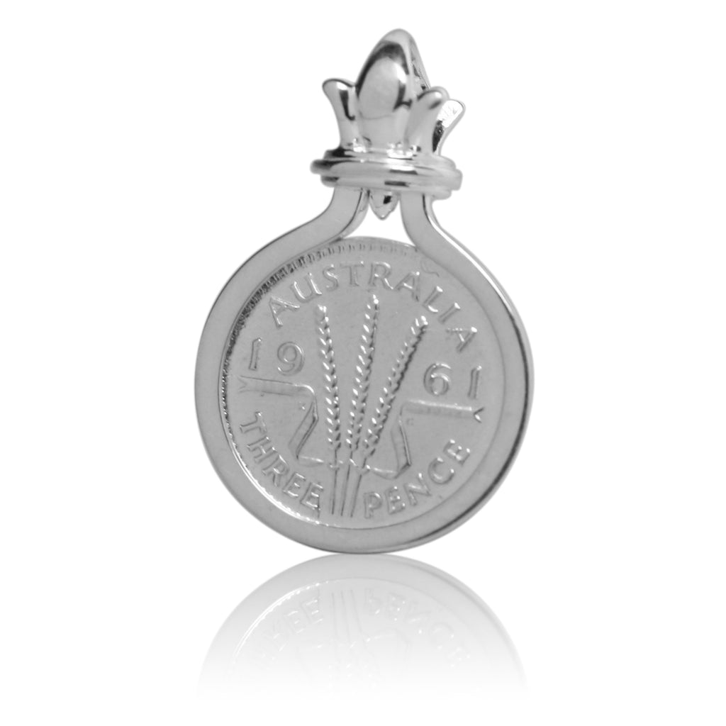COTTON & CO THREEPENCE COIN PENDANT