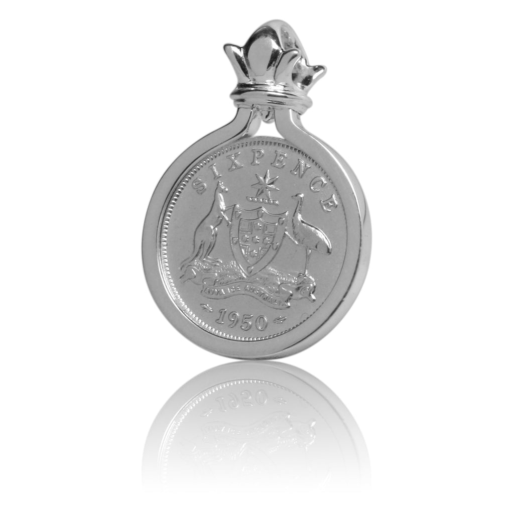COTTON & CO SIXPENCE COIN PENDANT