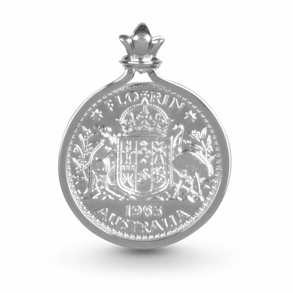 COTTON & CO FLORIN COIN PENDANT