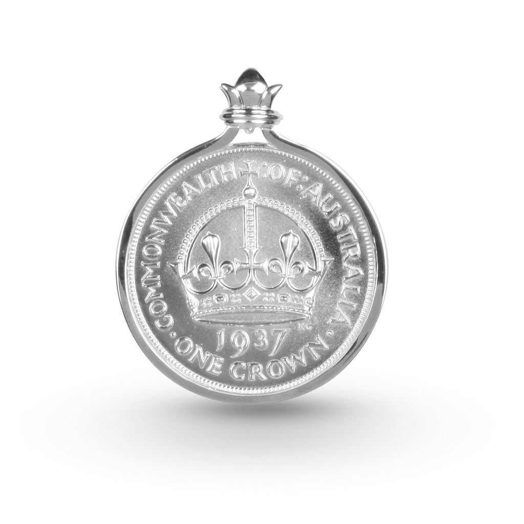 COTTON & CO AUSTRALIAN CROWN COIN PENDANT