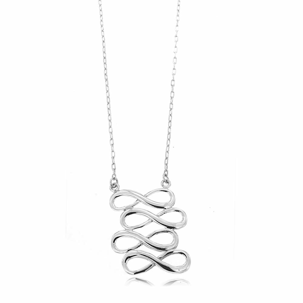 IRONCLAY INFINITY NECKLACE