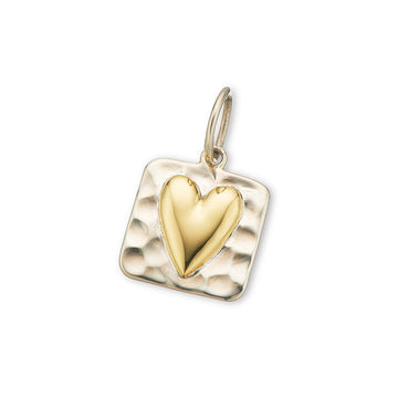 SMALL SQUARE HEART CHARM
