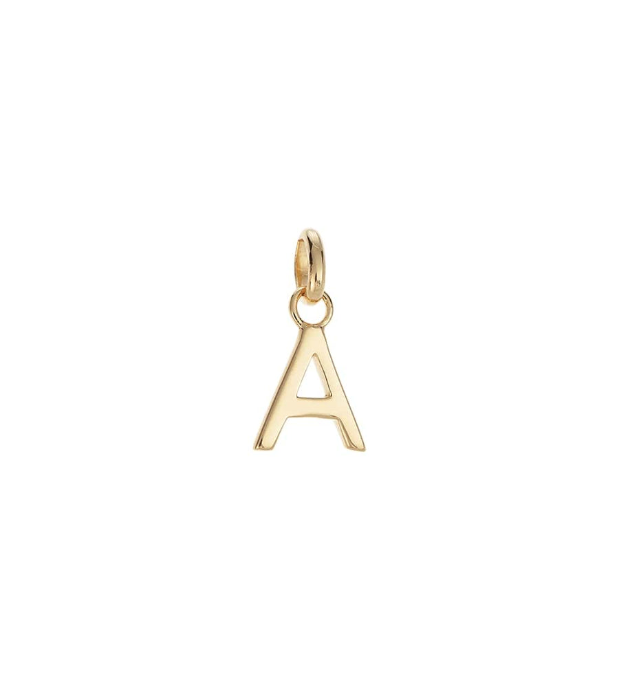 BESPOKE | GOLD OUTLINE INITIAL CHARMS A-Z