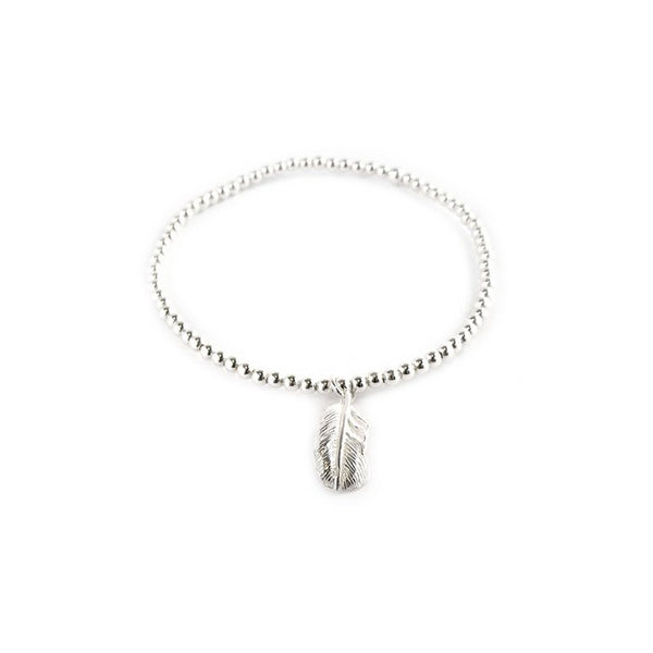 SILVERGIRL FEATHER BALL BRACELET