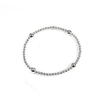 SILVERGIRL 3MM AND 6MM BALL BRACELET