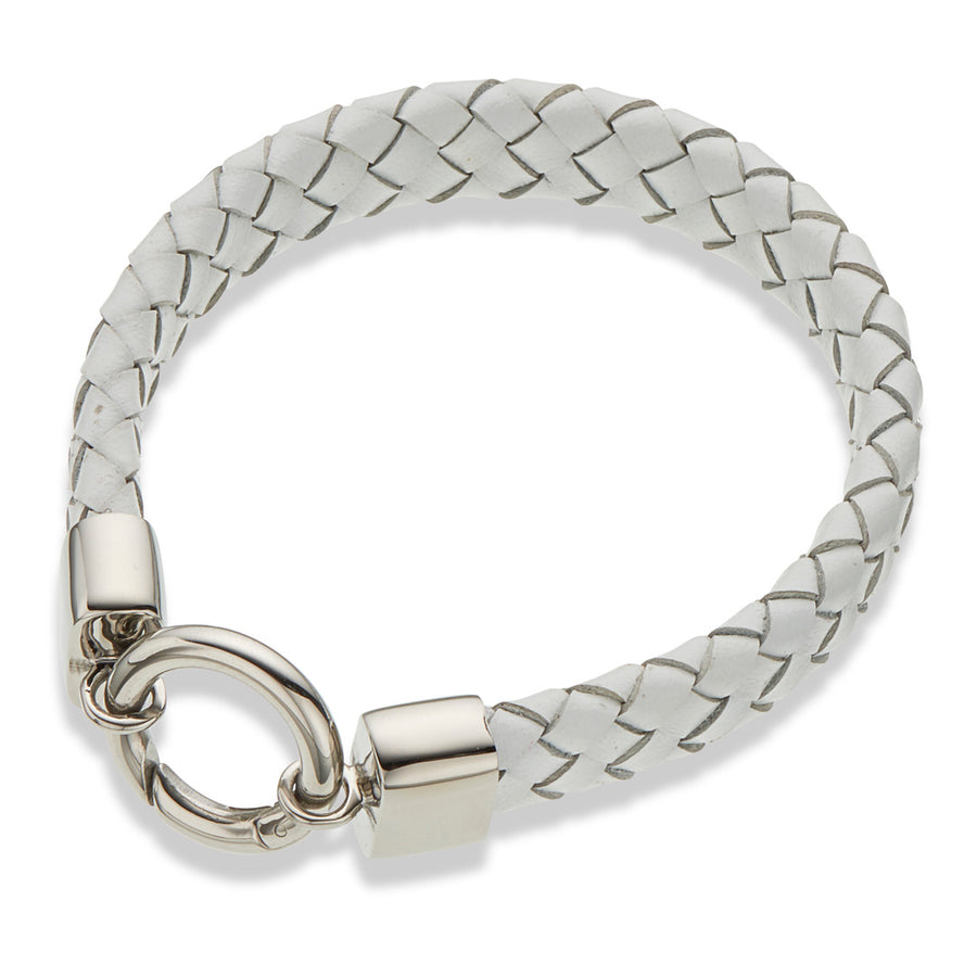 PALAS WHITE LEATHER BRACELET