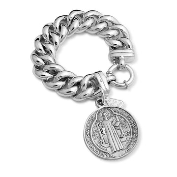 BIG MAMA WITH ST BENEDICT COIN BRACELET