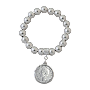 BALL BRACELET WITH SHILLING COIN
