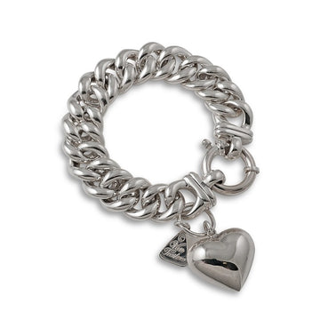 MEDIUM MAMA PUFFED HEART BRACELET