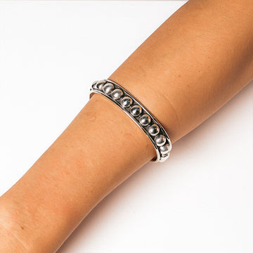 IRENE OXIDISED BALL CUFF