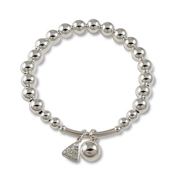BALL CHARM WITH BAR BALL BRACELET