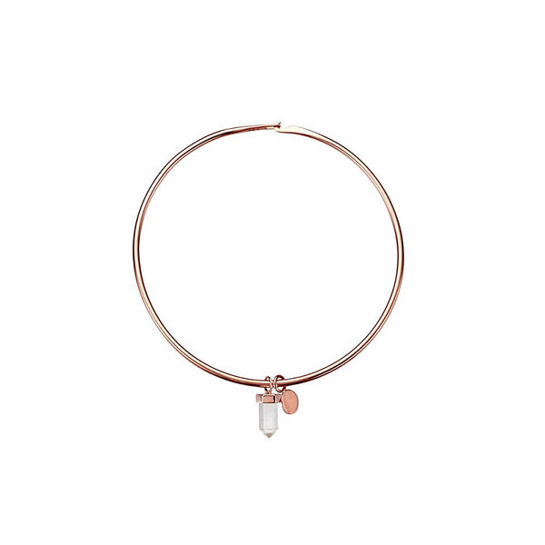 KRYSTLE KNIGHT HALO // CHASING WATERFALLS QUARTZ COIN BANGLE