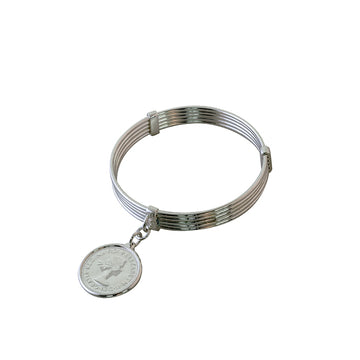 5 STACK SHILLING BANGLE