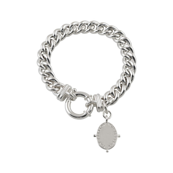 SMALL MAMA BRACELET WITH OVAL VT PLATE