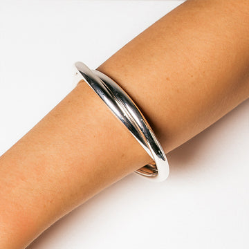 LIA INTERTWINED TUBE CUFF BANGLE