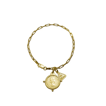CLIP CHAIN BRACELET WITH THREEPENCE