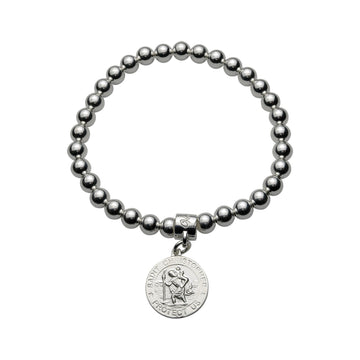 BALL BRACELET WITH ST CHRISTOPHER