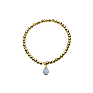 BALL BRACELET WITH PEAR MOONSTONE PENDANT