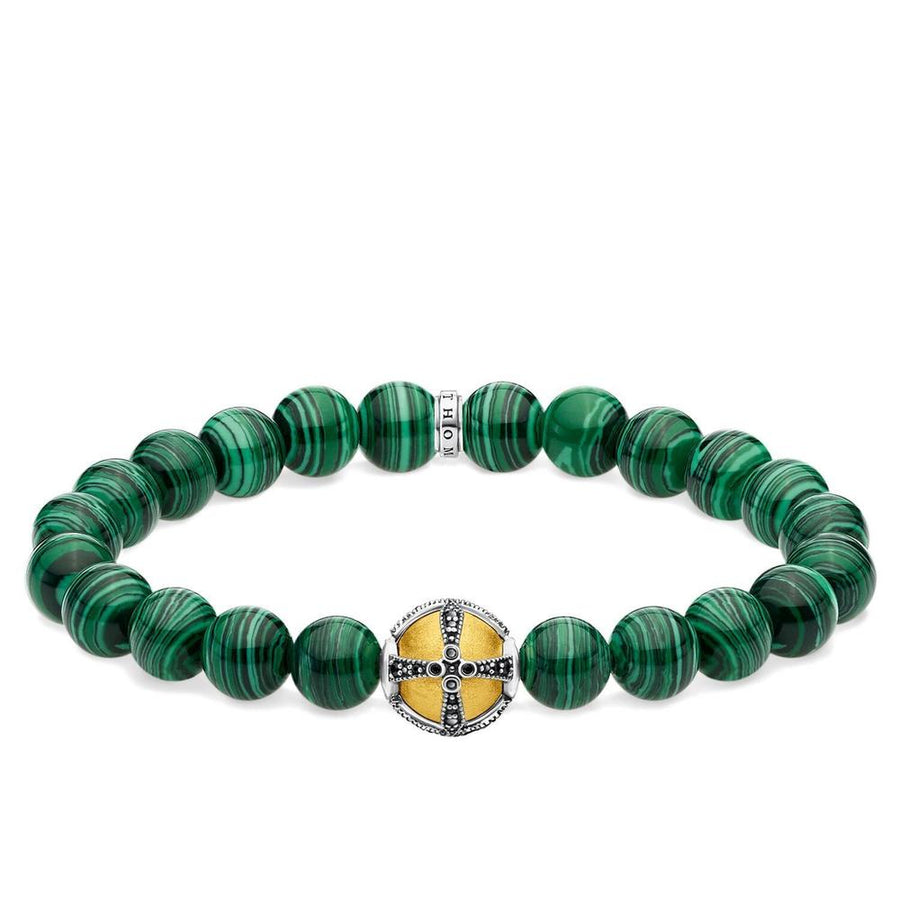 ROYAL CROSS MALACHITE BRACELET