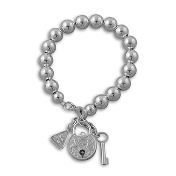 BALL BRACELET WITH COIN PADLOCK