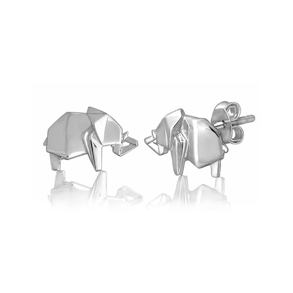 BOWERBIRD ORIGAMI ELEPHANT EARRINGS