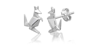 ORIGAMI KANGAROO EARRINGS