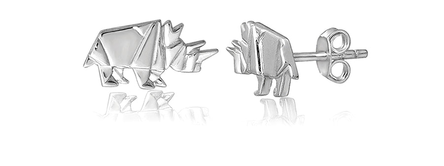 ORIGAMI RHINO EARRINGS