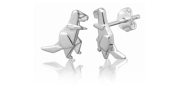 BOWERBIRD ORIGAMI T-REX EARRINGS