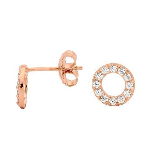 GEORGINI ZIRCONIA CIRCLE EARRINGS