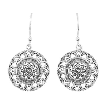 DAINTY MANDALA EARRINGS