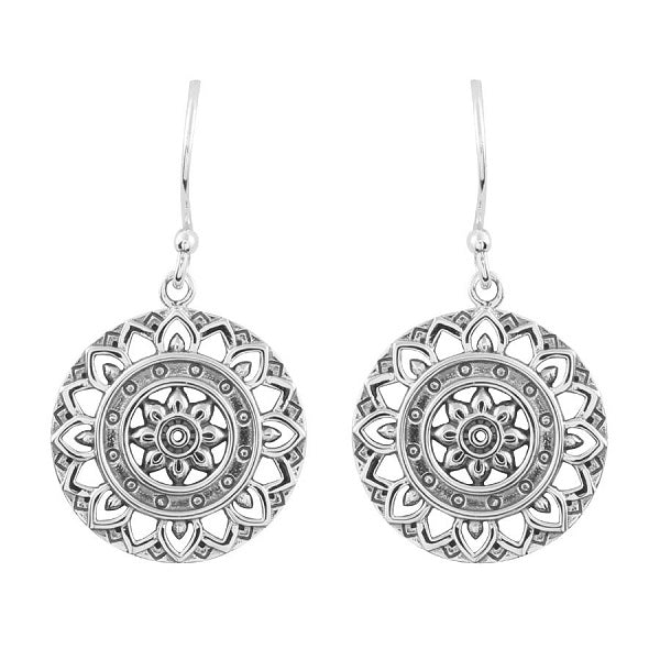 MIDSUMMER STAR DAINTY MANDALA EARRINGS