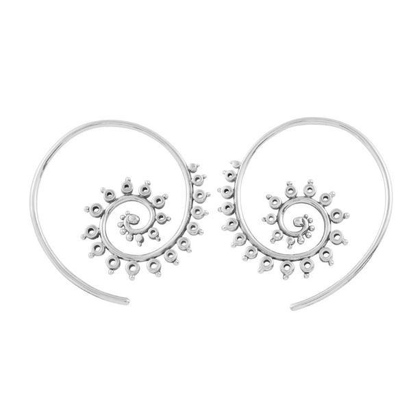 MIDSUMMER STAR FRACTAL HOOP EARRINGS