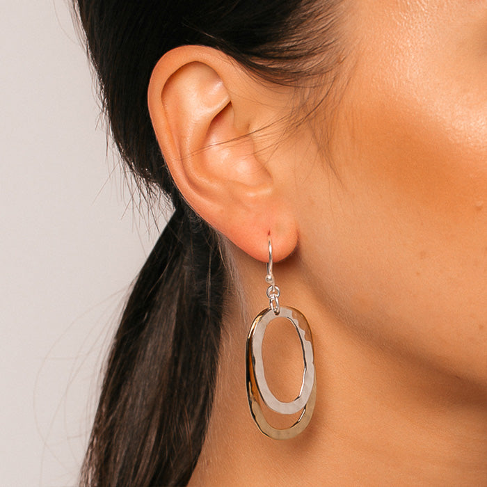 CHIQUITA DOUBLE OVAL EARRINGS