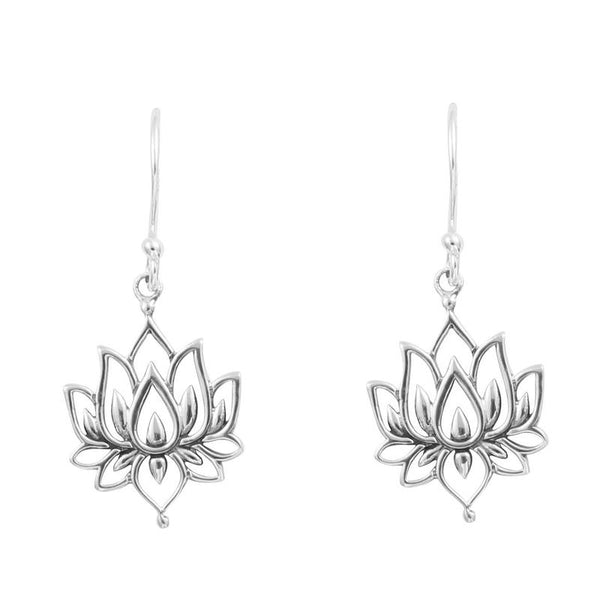 MIDSUMMER STAR BLOSSOMING LOTUS EARRINGS