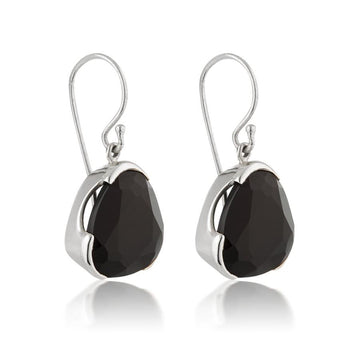 BLACK AGATE COCKTAIL EARRINGS
