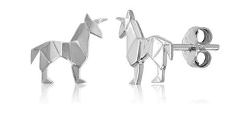 ORIGAMI UNICORN EARRINGS