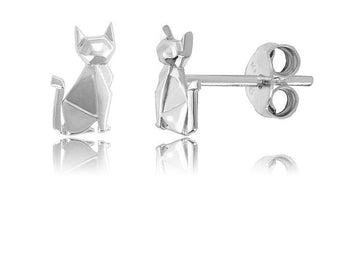 ORIGAMI SIAMESE CAT EARRINGS