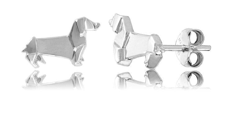 ORIGAMI SAUSAGE DOG EARRINGS